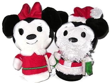Disney Santa Claus Navidad Mickey mouse y Minnie edición limitada Itty bittys peluche juguetes, Paquete