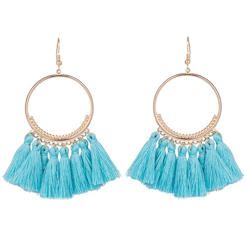 Lega Topdo 1/coppia panno Art orecchini moda sezione lunga settore orecchini eleganti orecchini per donne ragazze gioielli regali 8,5 cm White
