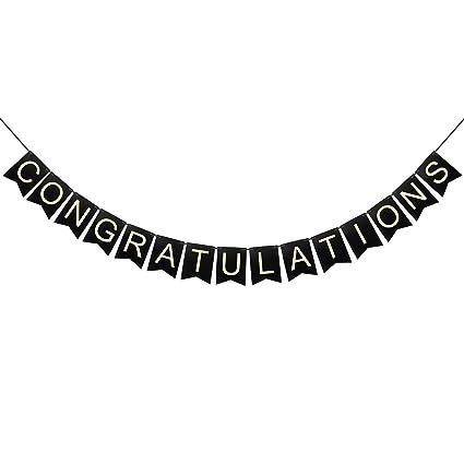 Amazon.com: LinGPAR – Cartel de felicitación con texto en ...