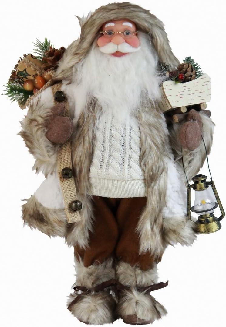 "Windy Hill Collection 167200 White Woodland Santa Claus Figurine Figure Decoration 16"""