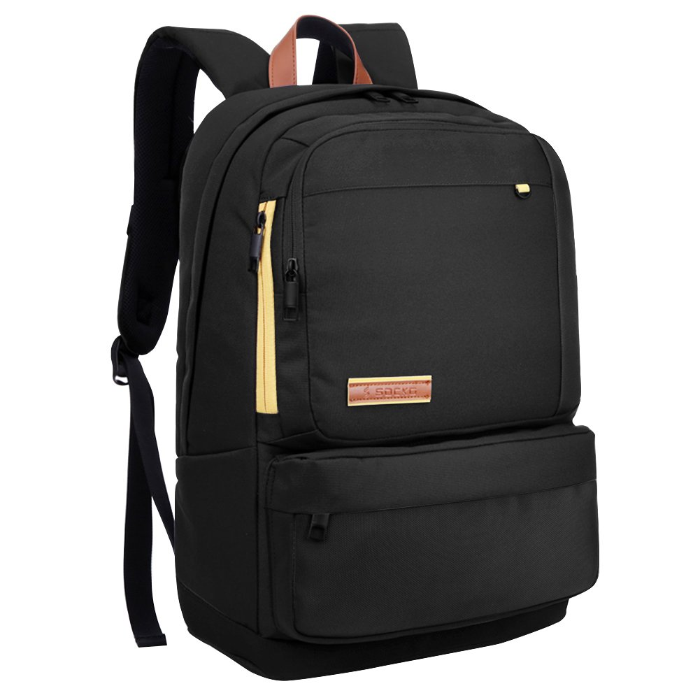 SOCKO Stylish Slim Water Resistant Business Laptop Backpack College  Computer Rucksack Casual Daypack Travel Camping Back Pack Fits Up to 15.6  Inch ... b12dcec7790c1