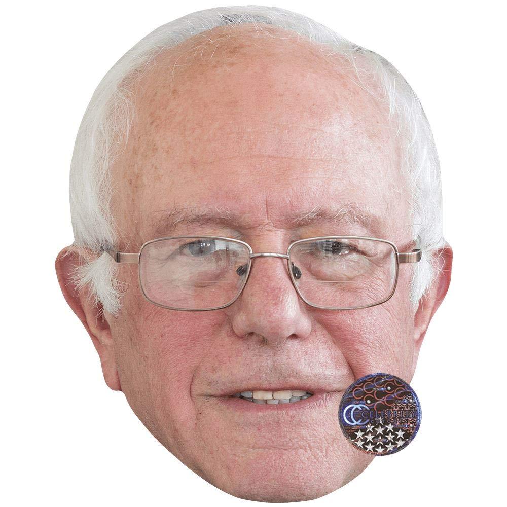 Bernie Sanders (Statesman) Celebrity Mask, Card Face and Fancy Dress Mask