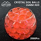 2000PCS WATER BALL GROWING CRYSTAL SOIL RED AQUA BEADS 4.1MM HYDROGEL CRAFT