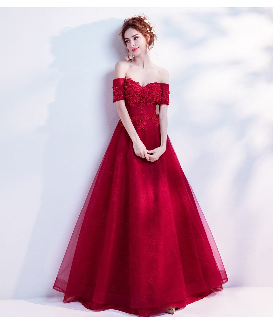 Dazzling deslumbrante lujo rojo novia vestido de novia boda cena tostadas medium rosso: Amazon.es: Hogar