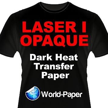 Laser 1 opaco 1 paso/Darks transferencia de calor papel para impresoras láser 8,5 x 11 (50 hojas): Amazon.es: Oficina y papelería