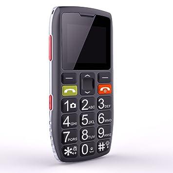 Teléfonos Móviles para Mayores con Teclas Grandes, Artfone C1 Senior, Fácil de Usar Celular para Ancianos con Botón Sos, Cámara, Negro
