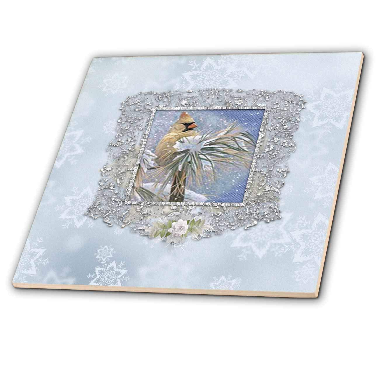 a09f720eedd16 Amazon.com: 3dRose Beverly Turner Christmas Design - Female Cardinal ...