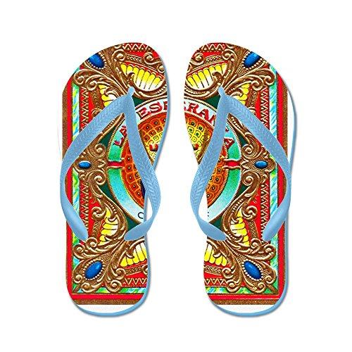 Cafepress Cuban Art Sigarenlabel - Flip Flops, Grappige String Sandalen, Strand Sandalen Caribbean Blue