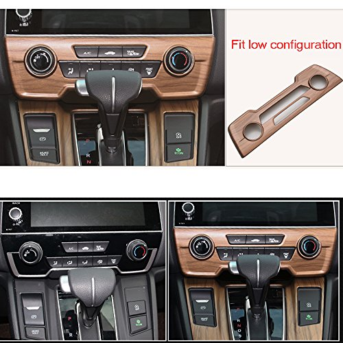 Diking For 2017 2018 Honda CRV Peach Wood Grain Center Console Panel Cover (Center Console(Low ()