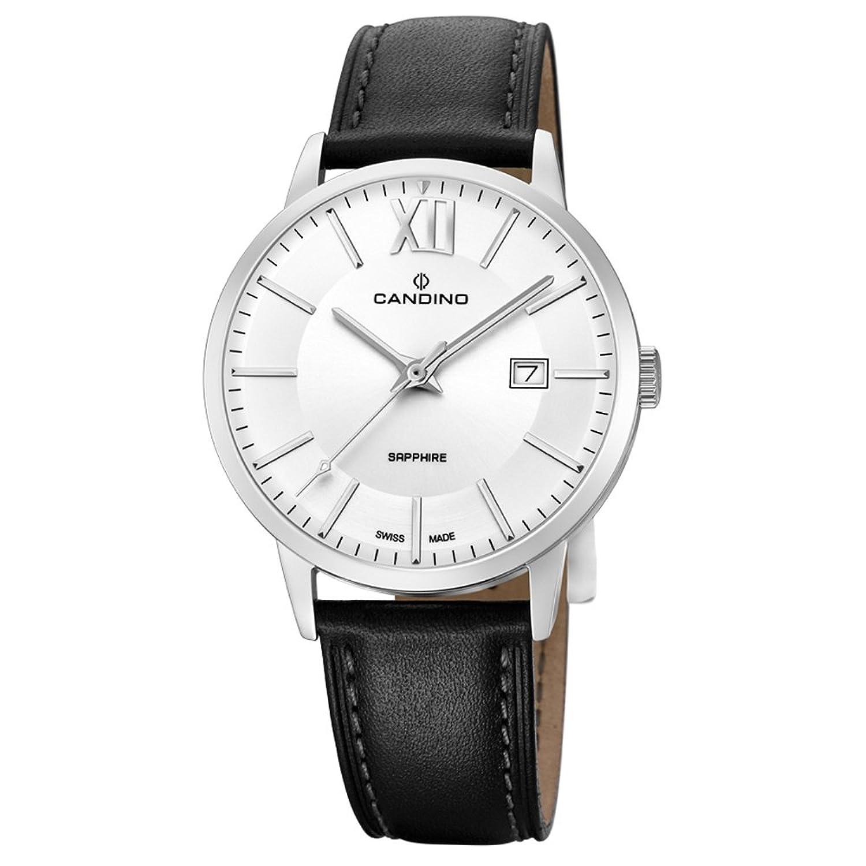 Candino Armbanduhr fÜr Herren Classic analog Elegant mit Leder-Armband schwarz Quarz-Uhr UC4618-3