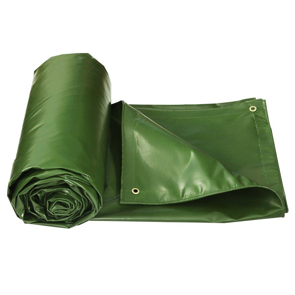 AJZGF Regenschutz Wasserdicht Thick Plane regendicht Sonnencreme Wasserdichte Plane Cargo Sonnenschutzisolierung abriebfestes Antioxidans (Farbe   Grün, größe   3x4M)
