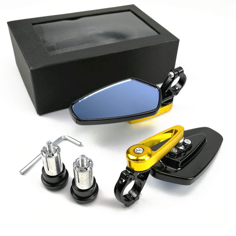 Accessori moto Specchietto laterale universale per motocicli Specchietto laterale per motocicli 13mm-17mm Specchietto laterale anti-stordimento per vetri blu 1Piazza Color : Red