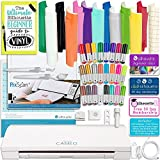Arts & Crafts : Silhouette Cameo 3 Bluetooth Bundle with 12x12 Sheets of Oracal 651 Vinyl, 24 Sketch Pens, Pixscan Mat, Guide Books, and More