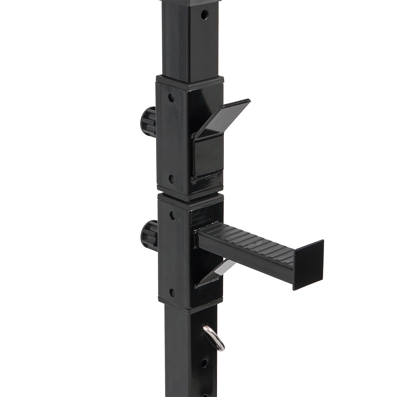 Akonza Pair of Adjustable Standard Solid Steel Power Squat Stands Barbell Free Press Bench -Black by Akonza (Image #2)