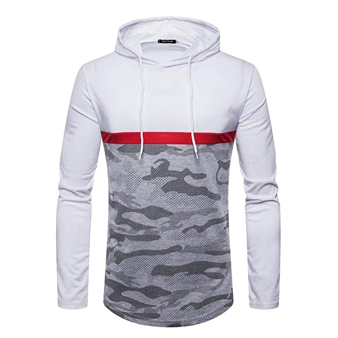 Boomboom Men Shirts, Autumn Winter Camouflage Long Sleeve Hooded Hoodie Sweatshirts for Teens Boys at Amazon Mens Clothing store: