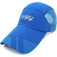OUTFLY Gracelife Lengthened Brim Cap Unisex Sun Protection Baseball Cap Adjustable Breathable Long Large Bill Cap