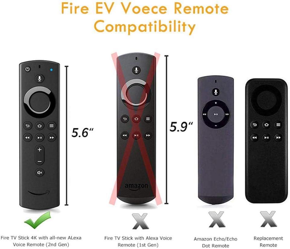 Estuche Protector para Remoto Fire TV Stick 4K, Funda Protectora Antideslizante Antichoque Sin-BPA Silicona Flexible, Compatible con Amazon Fire TV Cube, Fire TV Stick (2 Gen y 3 Gen): Amazon.es: Hogar