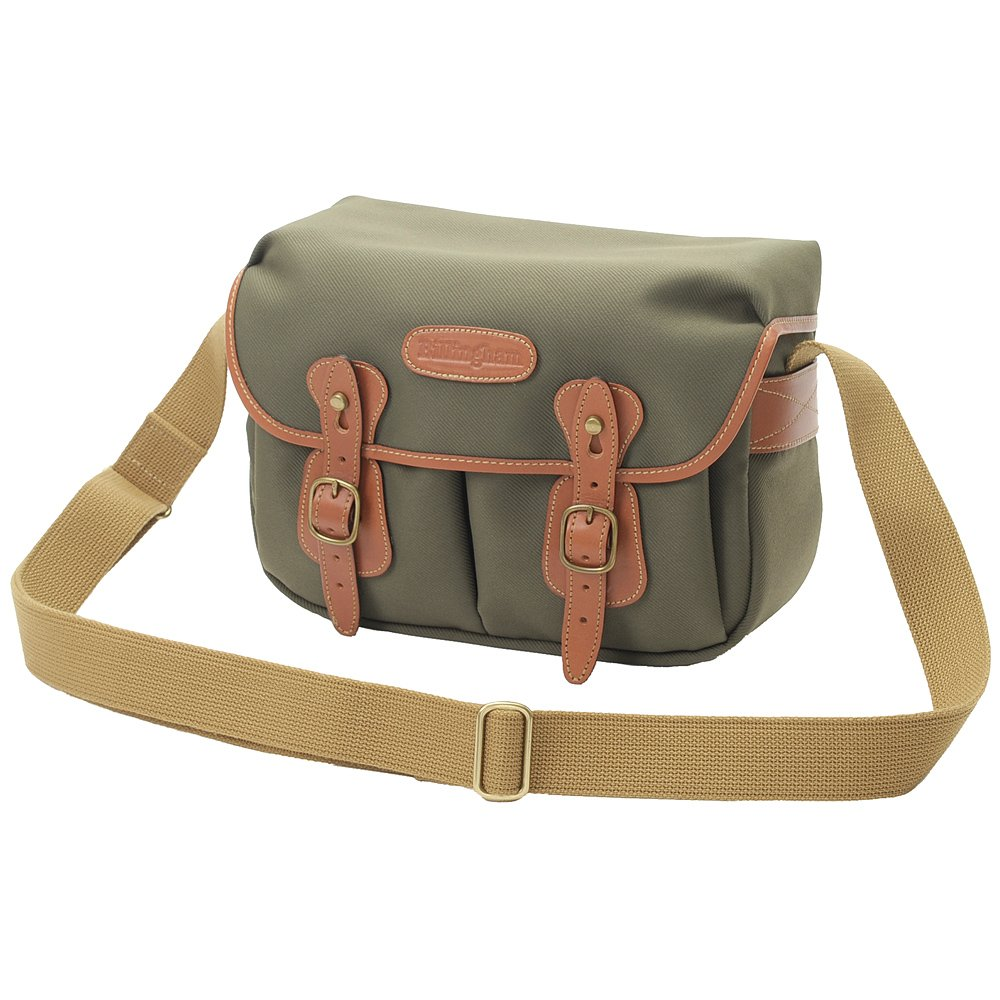 Billingham Hadley Small Camera Or Document Shoulder Pro Bag Khaki Chocolate Leather Sage Canvas With Tan Trim And Brass Fittings Cases Photo