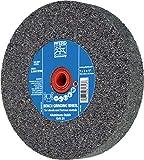 PFERD 61743 Bench Grinding Wheel, Aluminum Oxide, 6'' Diameter, 1'' Thick, 1'' Arbor Hole, 24 Grit, 4140 Maximum RPM