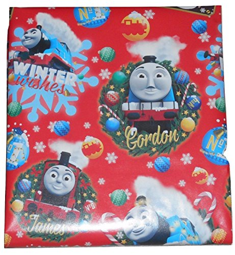 Thomas The Train Theme Gift Wrapping Paper 20 sq ft. (1 Roll) ()