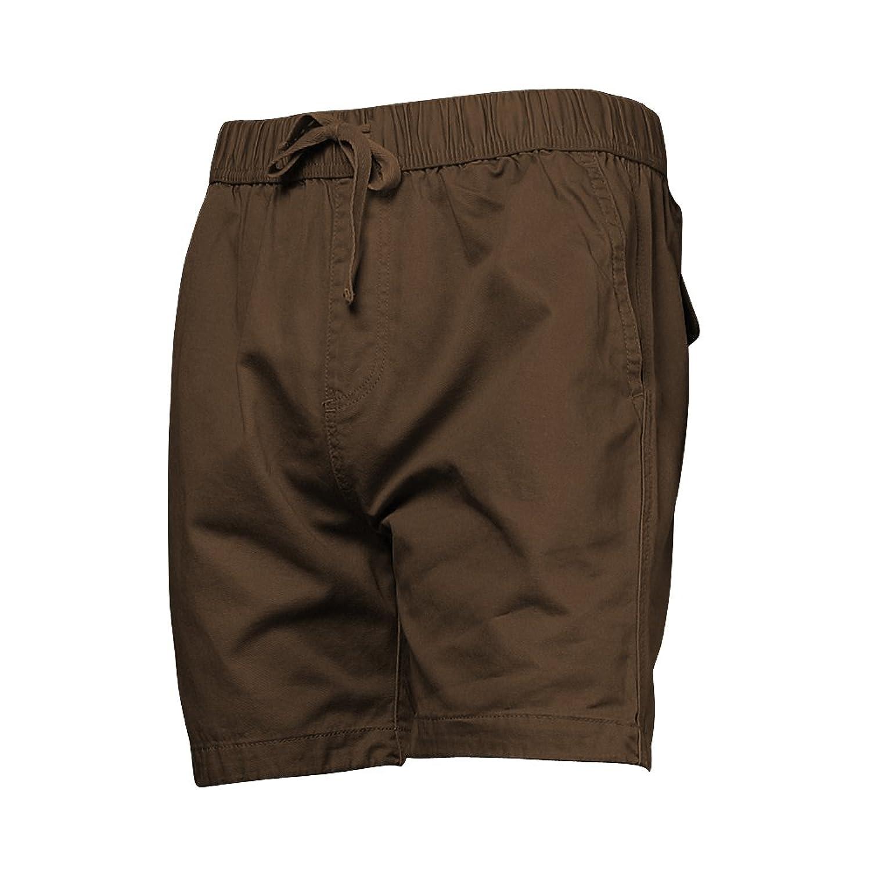 a8067a1b37 A Pagom Men's Loose Fit Drawstring Short Inseam Twill Shorts