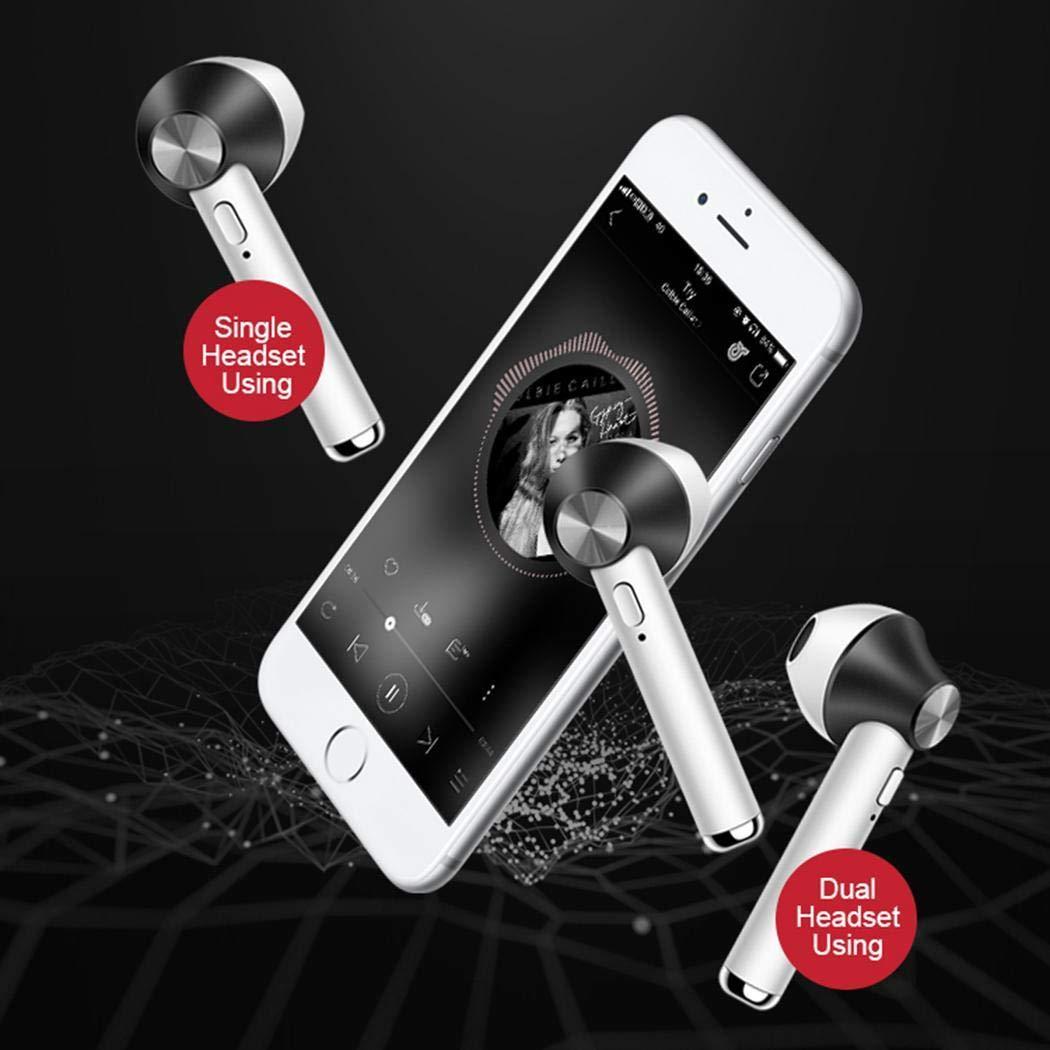 pairris Auriculares inal/ámbricos de m/úsica Bluetooth Auriculares Auriculares con Cargador de Caja Auriculares y Cargadores suplementarios