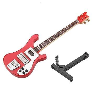 Modelo Eléctrico de La Guitarra Bajo Rojo Modelo de Réplica En ...