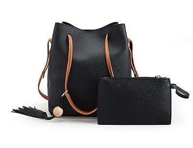 d496f425a97d Amazon.com  New Women Bags Purse Shoulder Handbag Tote Messenger Hobo  Satchel Bag Cross Body (Black)  Shoes