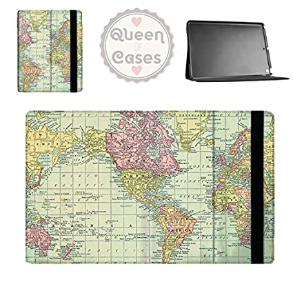 Queen of Cases Antique World Map 1913 Tablet Flip Case - Samsung Galaxy Tab  1 10.1in P7500 Flip Cover