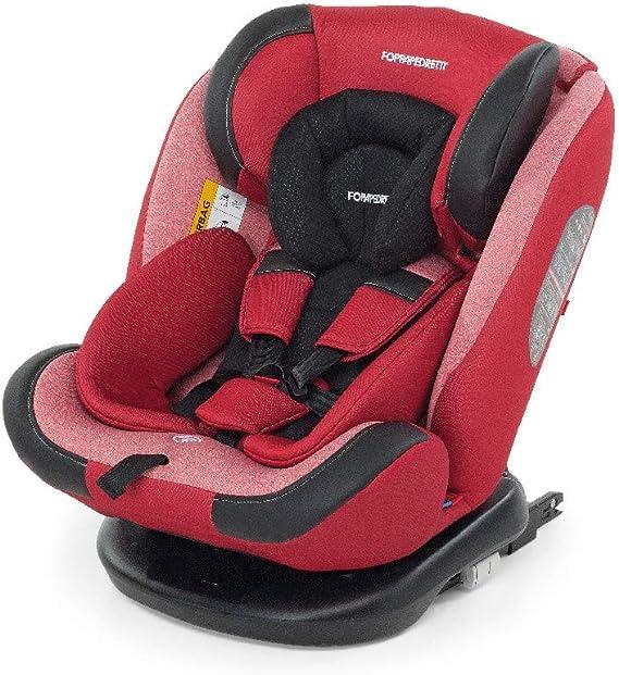 Foppapedretti Iturn duoFIX Seggiolino Auto Girevole 360°, Gruppo 0+/1/2/3 (0-36 kg), per bambini dalla Nascita a 12 Anni, Cherry