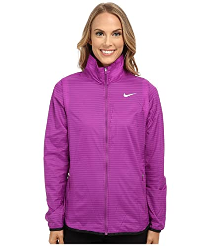 NIKE Golf Women's Flight Convertible Jacket (Cosmic Purple/Metallic Silver)  XS