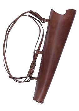 Köcher aus Leder, braun Lederköcher Pfeil Bogenschütze Mittelalter Wikinger LARP
