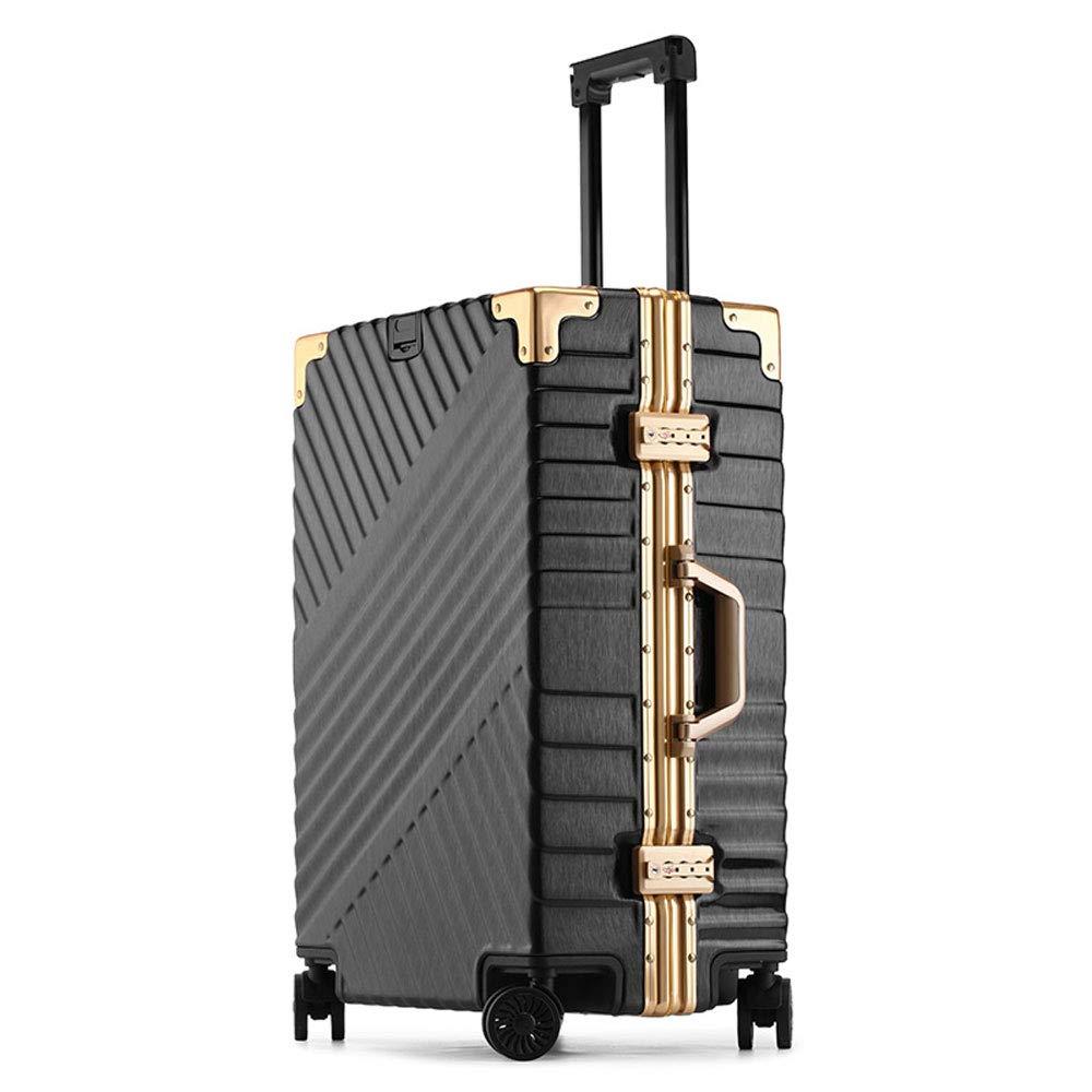 YD スーツケース トロリーケース - ABS/PC、TSA税関コードロック、スタイリッシュなつや消しツイル、アルミフレーム衝突防止ユニバーサルホイール学生ビジネストラベル搭乗シャーシ - オプションで2色3サイズ /& (色 : 黒, サイズ さいず : 37*23*51cm) 37*23*51cm 黒 B07MW142VS