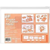 Pasta Zíper Slide com Porta Cartão - 290x395 mm - PVC - Transparente Cristal