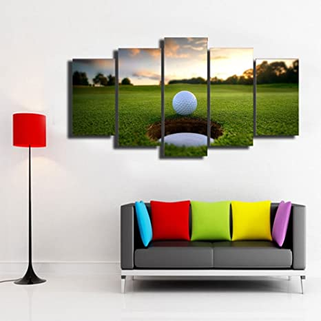 Amazon Com Canvas Art Paintings Golf Course Leisure Sport Painting