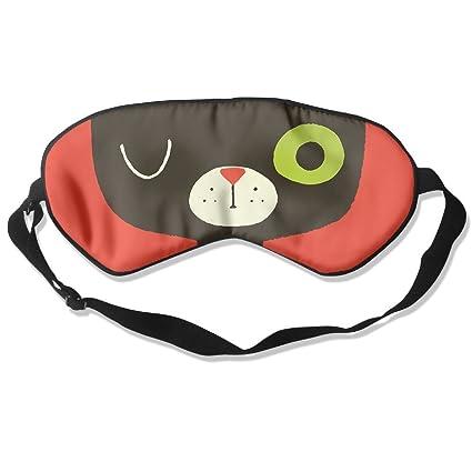 Máscara de dormir cómoda para los ojos del sueño, diseño de gato, para viajar