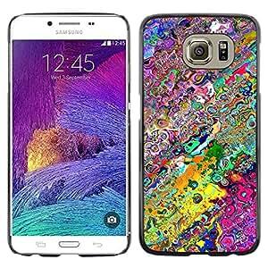 Be Good Phone Accessory // Dura Cáscara cubierta Protectora Caso Carcasa Funda de Protección para Samsung Galaxy S6 SM-G920 // Wallpaper Neon Colors Random Modern Art