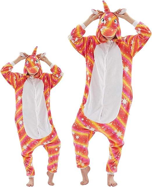Unicorn Cosplay Animal Pigiama Tutina Costume Pigiama Outfit E Adulti Rosa Taglia S Bambini Tutina Animali