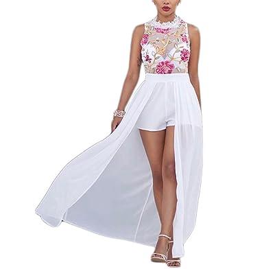 Hexu bordado floral chiffon summer dress mulheres slit black lace dress mangas sexy party club longo
