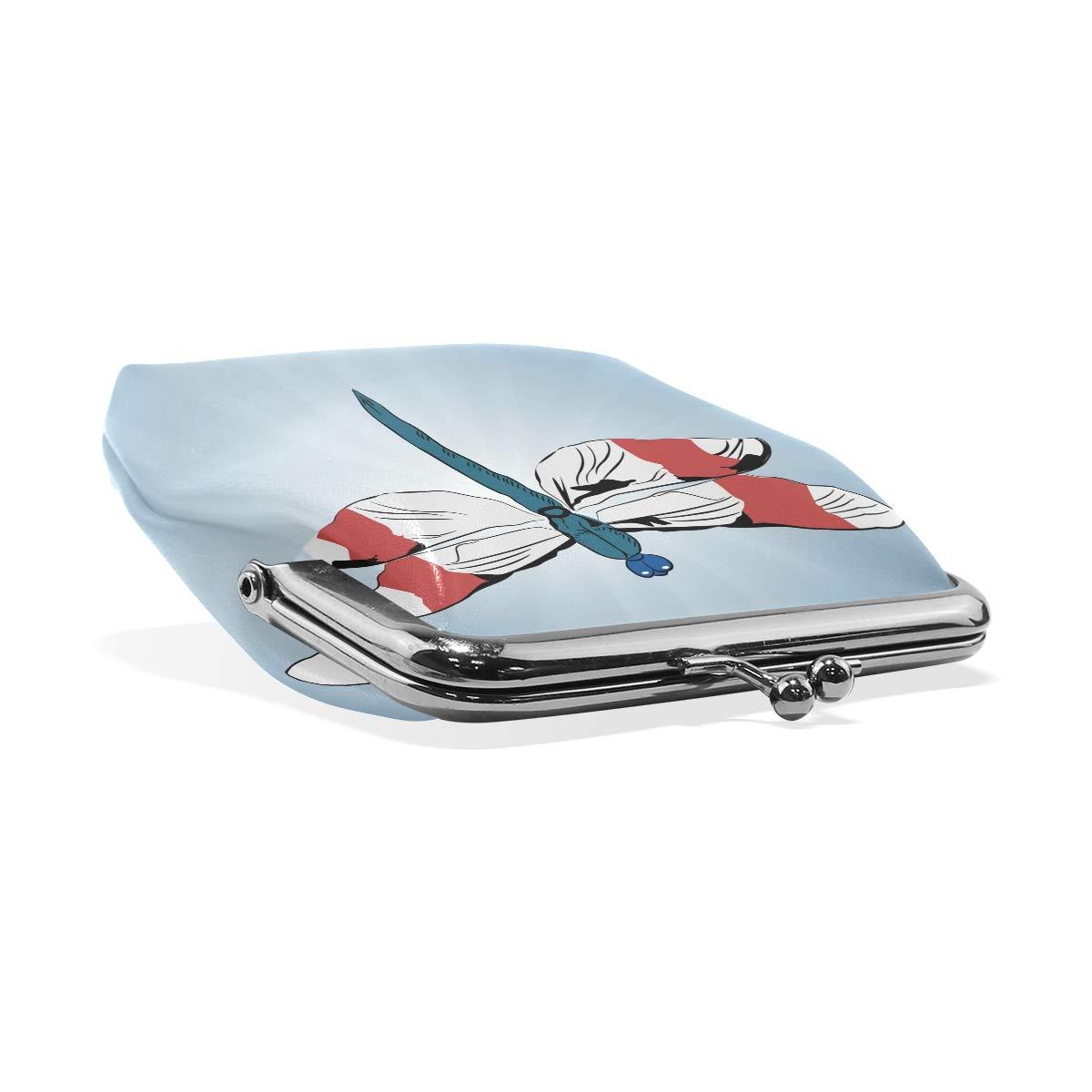 LALATOP Dragonfly Womens Coin Pouch Purse wallet Card Holder Clutch Handbag
