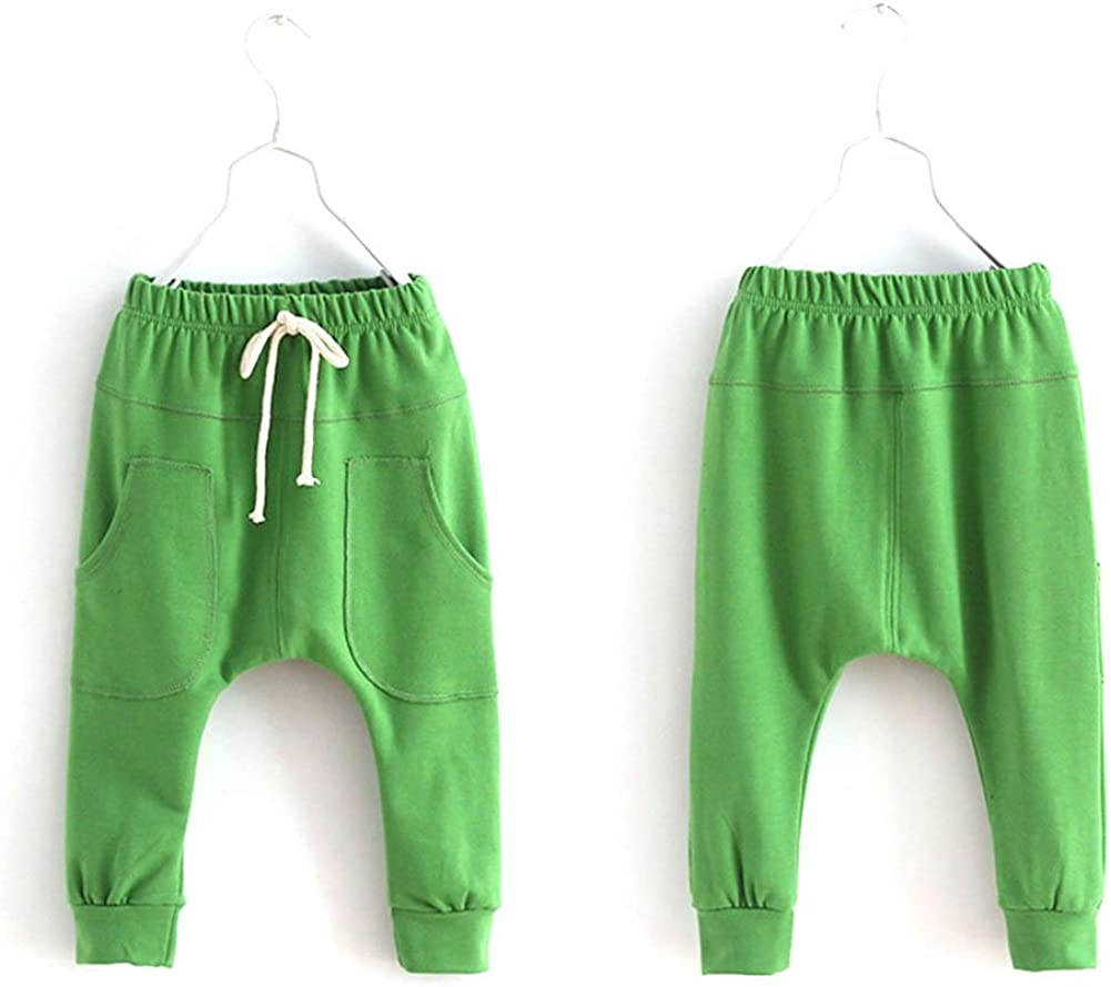 Weixinbuy Unisex Kid Toddler Cotton Jersey Harem Pants Baby Elastic Trousers