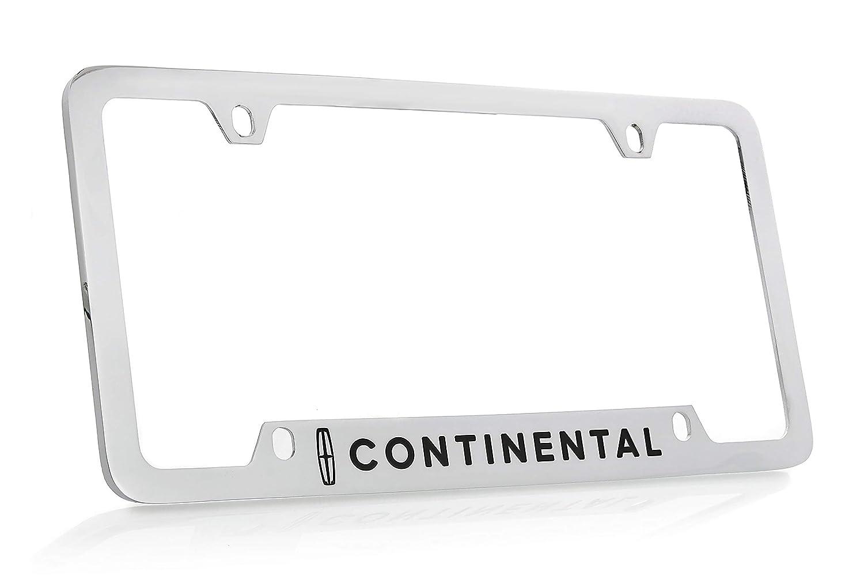 Lincoln/_ Contiental Wordmark Chrome Plated Brass Metal License Frame Plate Bottom Engraved 4 Hole Baronlfi