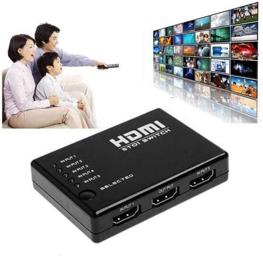 5 In 1 1.4 Version 1080P HDMI Switch Switcher HD Video Support HDMI Splitter