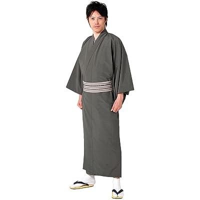 (キョウエツ) KYOETSU メンズ袷着物 正絹 無地 紬生地 袷 仕立て上がり