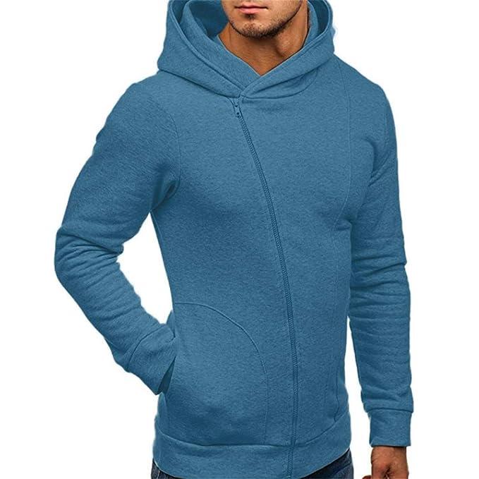 Herren Langarm Hoodies Mann Männlich Herbst Winter Outwear Mode Lässig  Sweatshirt Hoodies Mantel Reißverschluss Trainingsanzüge Jacke c555161b1b
