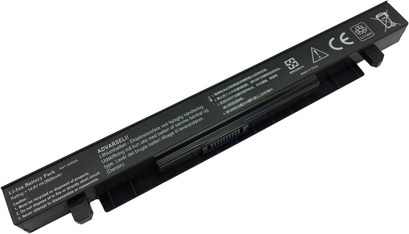Reemplazo de la batería A41-X550A por ASUS X450CA X450EA X550 X550C X550D X552CL X552EA FX50JK F550C R510CA 14,4v 2600mAh: Amazon.es: Informática