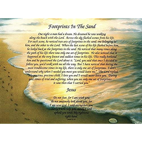 Footprints in the Sand Poem: Amazon.com