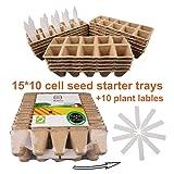 Seed Starter Tray Kit, Peat Pots for Seedlings