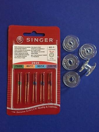 10 Kunststoffspulen für Singer Nähmaschinen Curvy und Confidence