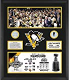 "Pittsburgh Penguins 2017 Stanley Cup Champions Framed 20"" x 24"" Commemorative Collage with Piece of Game-Used Puck and Game-Used Net - Limited Edition of 217 - Fanatics Authentic Certified"